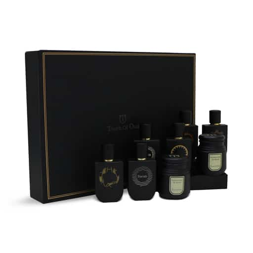 6 Oriental Oud Perfume and 2 Bukhoor Gift Set