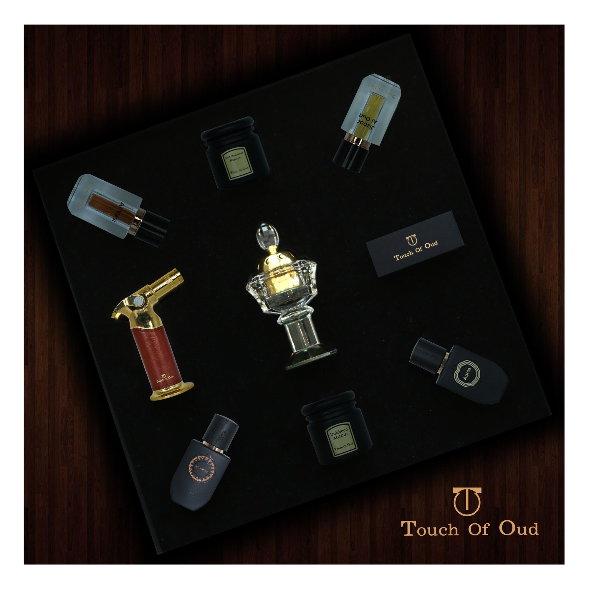 Touch Of Oud 9PCS Gift Set Perfume Bukhoor Dukhoon Mukhalat