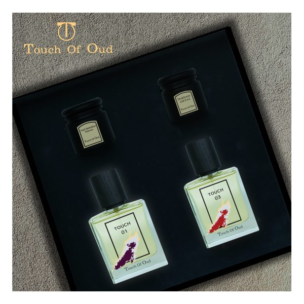 Touch Of Oud 4pcs Perfume Bukhoor Dukhoon Gift Set