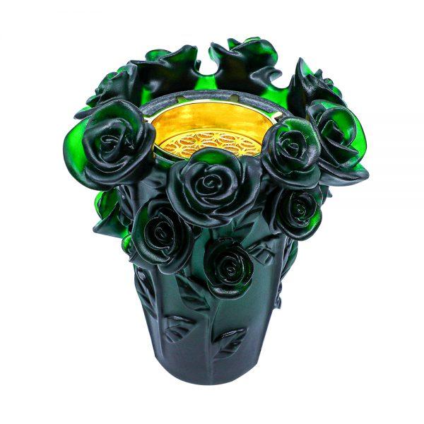 Touch Of Oud Burner Dark Green Flower 1