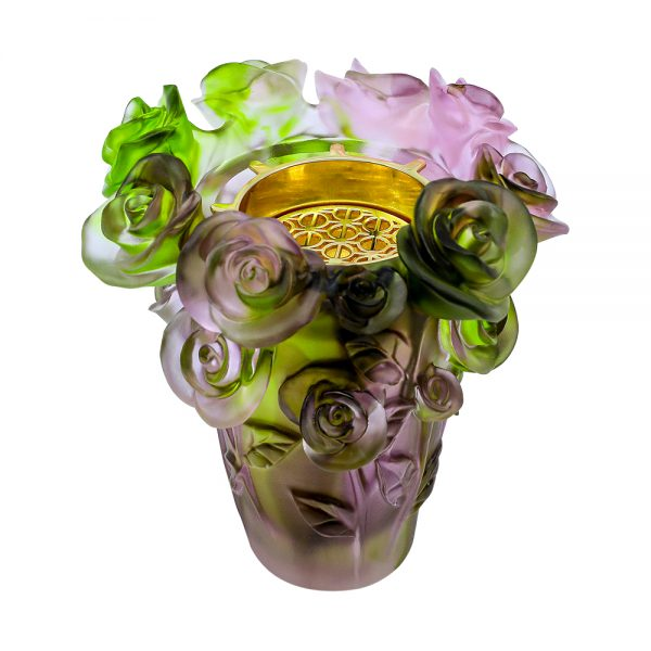 Touch Of Oud Burner Green And Purple Mix Flower 2